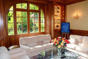 Salon et jardin à l'Ermitage du Rebberg