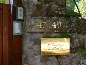 Le porche d'enrée de l'Ermitage du Rebberg